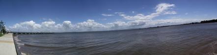 El océano desde la península.