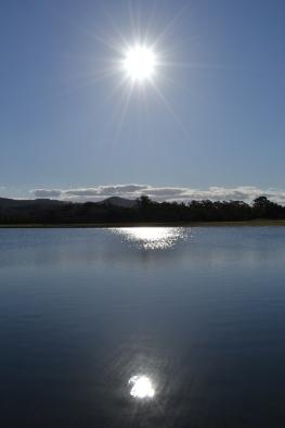Una laguna cerca de The Gold Coast